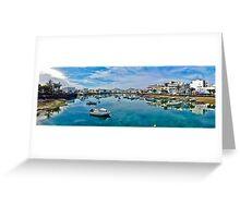 Touristic port in Arrecife Greeting Card