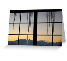 Icicles in Winter Greeting Card