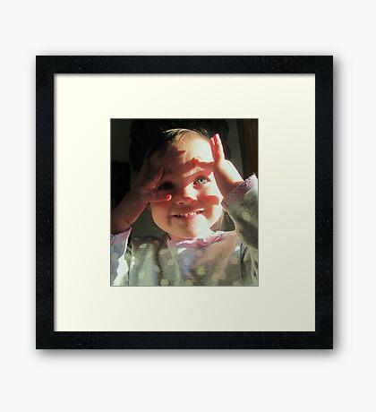 LETS SEE Framed Print