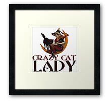 Crazy Cat Lady vintage halloween Framed Print