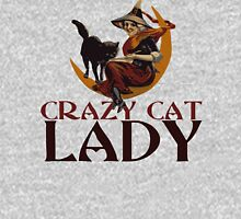 Crazy Cat Lady vintage halloween Women's Fitted Scoop T-Shirt