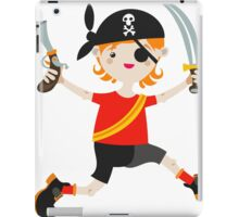 Kid role game playing as a pirate. iPad Case/Skin
