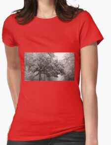 Snow in the Trees Womens Fitted T-Shirt