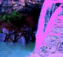 Noccalula Falls in New Colors by Charldia