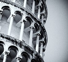 Leaning Tower of Pisa detail by Daniel Pertovt
