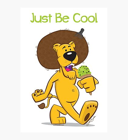 Be Cool Lion Photographic Print