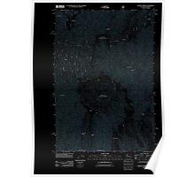 USGS Topo Map Washington Godman Spring 20110914 TM Inverted Poster
