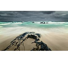 Stormy Day, Beer Barrel Beach, Tasmania Photographic Print