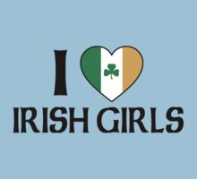 I Love Irish Girls Kids Tee