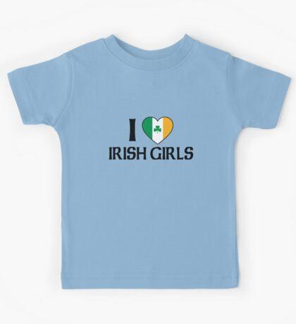 I Love Irish Girls Kids Tee