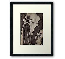 ..The PLague Doctor 1... Framed Print