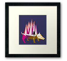 Isaac Newton and Dog Prism Framed Print