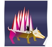 Isaac Newton and Dog Prism Poster