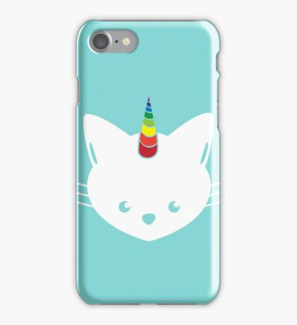 Unicorn Cat with Rainbow Horn iPhone Case/Skin