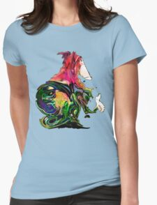 the hitchhiking monkey Womens Fitted T-Shirt