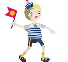 Boy role game playing as a sailor. by YAZZIK