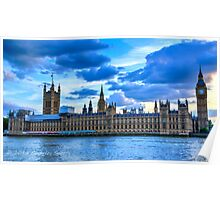 Sunset over Parliament Poster