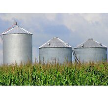 Three Silos Photographic Print
