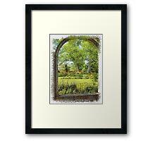 Gardens in Nova Scotia Framed Print