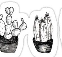 3 cutie plants Sticker