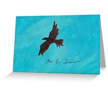 One for Sorrow Greeting Card