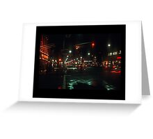 Greenwich Village at Night Greeting Card