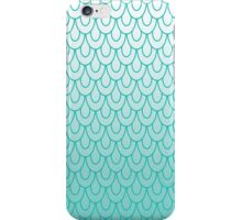 Mermaid Scales Turquoise Ombre iPhone Case/Skin
