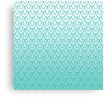 Mermaid Scales Turquoise Ombre Canvas Print