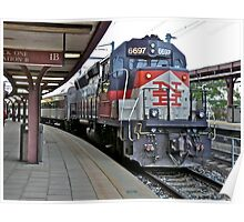 Shoreline East With NH RR Colors and Markings at New London, CT - US Poster