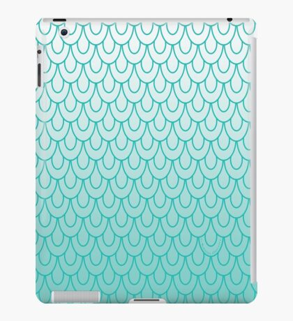 Mermaid Scales Turquoise Ombre iPad Case/Skin