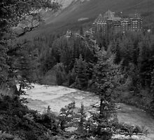 Banff Springs Hotel (BW) by JamesA1