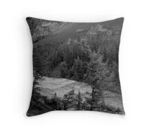 Banff Springs Hotel (BW) Throw Pillow