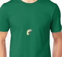 man with no teeth eating leek Unisex T-Shirt