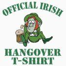 Official Irish Hangover by HolidayT-Shirts