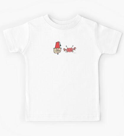Monkey Fez and Crabby T Shirt of Underwater Hoo Ha and Cheez Weenies Kids Tee