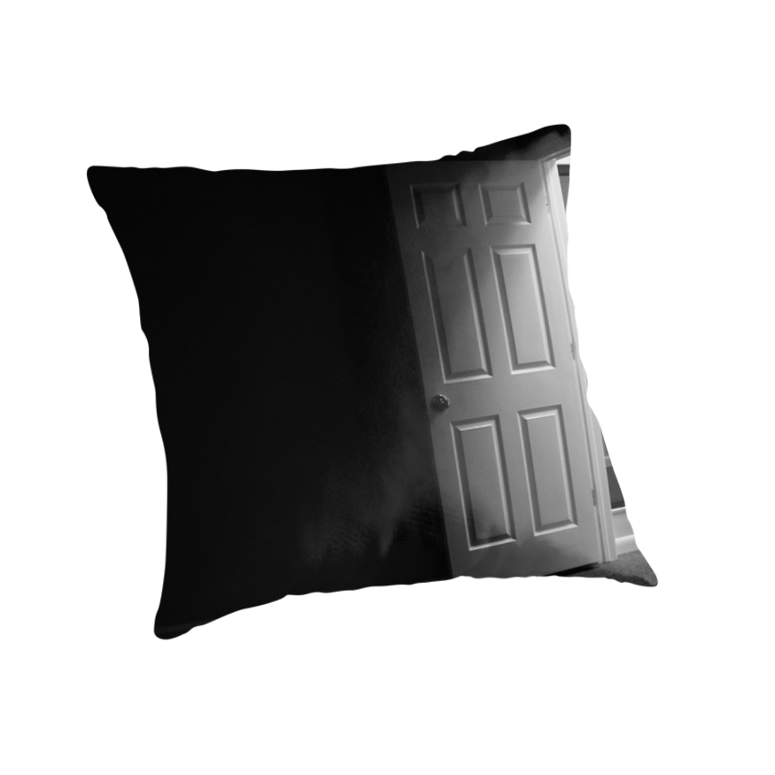 "Dark and mysterious room"" Throw Pillows by Stephen Orsillo 