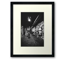 Seattle, Post Alley murals Framed Print