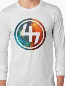 47 ORANGE AND BLUE NEBULA CIRCLE Long Sleeve T-Shirt