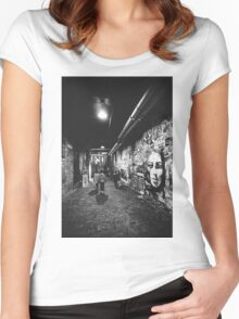 Seattle, Post Alley murals Women's Fitted Scoop T-Shirt