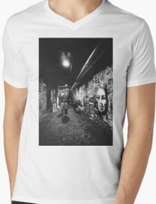 Seattle, Post Alley murals Mens V-Neck T-Shirt
