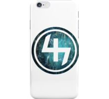 47 TEAL AQUA BLUE NEBULA CIRCLE iPhone Case/Skin