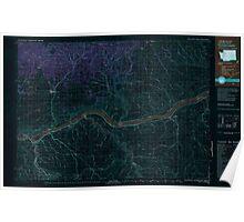 USGS Topo Map Washington Goldendale 241350 1980 100000 Inverted Poster