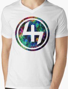 47 LSD ACID OIL CIRCLE  Mens V-Neck T-Shirt