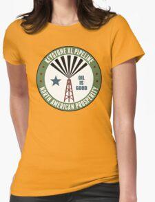 Keystone XL Pipeline Womens Fitted T-Shirt