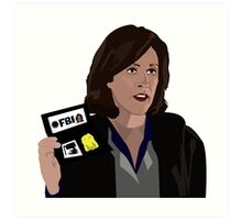 Agent Monica reyes FBI Art Print