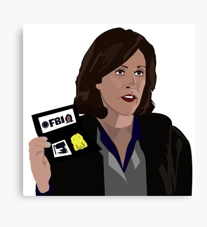 Agent Monica reyes FBI Canvas Print