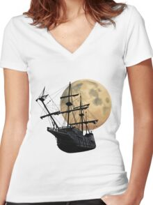 Sailors Of The Night Women's Fitted V-Neck T-Shirt