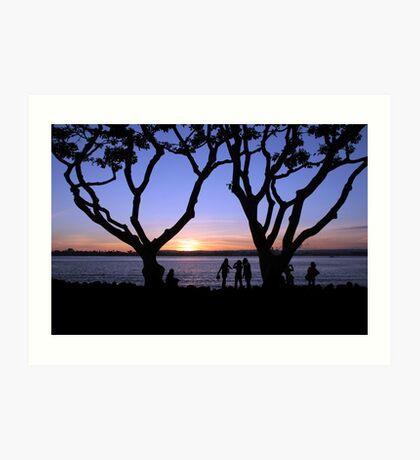 Sunset Fascination Art Print