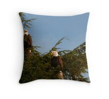 Two Bald Eagles  Throw Pillow