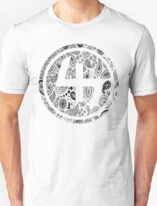 47 WHITE GANGSTER BANDANA PATTERN CIRCLE T-Shirt